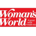 Red & White Logo for Woman's World Magazine